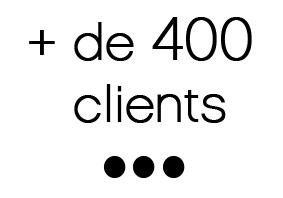 + de 400 clients...